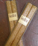 "Gold Rush 8"" Natural Beeswax Glitter Candle Set - Gold"
