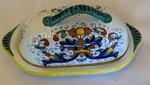 Sambuco Butter Dish  w/Lid 22cm - Ricco Deruta