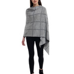 Darzzi Victoria Knitted Shawl - Gray Combo