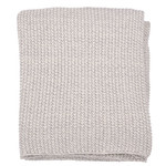 Darzzi Motley Moss Knitted Throw - Soft Grey Melange / Natural