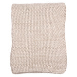 Darzzi Motley Moss Knitted Throw - Stone / Natural