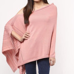 Darzzi Pointelle Knitted Poncho - Blossom