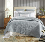Orchids Lux Home Bella Quilt - Cyan