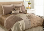 Back to Nature 8 Pc Comforter Set - Mocha