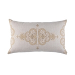 Lili Alessandra Nina Large Rectangle Pillow - Light Sand / Gold / Dark Sand