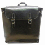 22 Tote Leather Backpack - Black