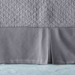 Lili Alessandra Retro Tailored Bed Skirt - Pewter Cotton