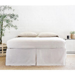 Pom Pom at Home Pleated Linen Bedskirt - Flax