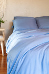 Bamboo Dreams® Twill Comforter Cover - Dusk Blue