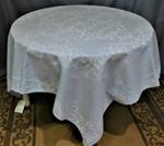 Jacquard  Weave Cristal Tablecloths - Light Blue