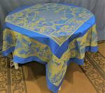 Jacquard  Weave Josephine Tablecloths - Blue