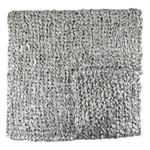 Ann Gish Ribbon Knit Throw -Silver