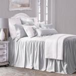 HiEnd Accents Luna Bedspread Set w/ Drop Skirt - Gray
