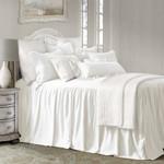 HiEnd Accents Luna Bedspread Set w/ Drop Skirt - White