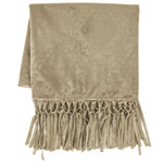 HiEnd Accents Diane Embossed Velvet Throw Blanket - Oatmeal