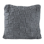 HiEnd Accents Hand Knitted Chess Euro Sham - Slate