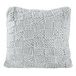 HiEnd Accents Hand Knitted Chess Euro Sham - Gray