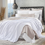 Orchids Lux Home Hudson Blanket - White