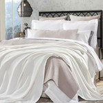 Orchids Lux Home Hudson Blanket - Off-White
