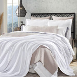 Orchids Lux Home Riviera Blanket - White