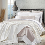 Orchids Lux Home Riviera Blanket - Off-White