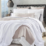 Orchids Lux Home Newport Blanket - White