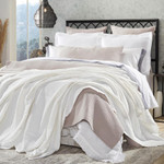 Orchids Lux Home Newport Blanket - Off-White