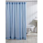 Amity Home Cotton Seersucker Shower Curtain - Blue