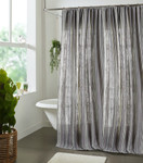 Amity Home Langston Linen Shower Curtain - Grey