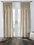 Amity Home Lia Velvet Pleated Curtain - Oyster