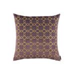Lili Alessandra Lynx Square Pillow - Raisin / Gold