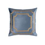 Lili Alessandra Soho Square Pillow - Blue / Gold Antique