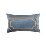 Lili Alessandra Soho Lg Rectangle Pillow - Blue / Gold Antique