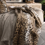 Lili Alessandra Leopard Faux Fur Throw