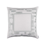 Lili Alessandra Capri European Pillow - White / Aquamarine