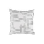 Lili Alessandra Capri Square Pillow - White / Aquamarine