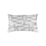 Lili Alessandra Capri Lg Rectangle Pillow - White / Aquamarine