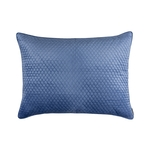 Lili Alessandra Valentina Quilted Luxe Euro Pillow - Azure