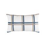Lili Alessandra Oliver Lg Rectangle Pillow - White / Smokey Blue / Fawn
