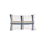 Lili Alessandra Oliver Sm Rectangle Pillow - White / Smokey Blue / Fawn