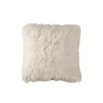 Lili Alessandra Coco Square Pillow -White Faux Fur