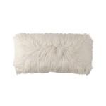 Lili Alessandra Coco Lg Rectangle Pillow -White Faux Fur