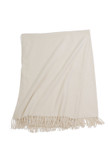 Yala Silk Fleece Throw - Ivory