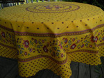 Le Cluny Provencal Coated Cotton Tablecloths - Fayence Yellow