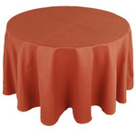 Jacquard Weave Solid Round French Tablecloth - Terra Cotta
