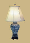 Blue/White Floral Jar Lamp