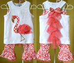 Mud Pie Flamingo Top/Pant Set - 2T-4T