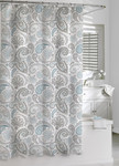 Kassatex Paisley Shower Curtain - Blue / Grey