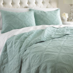 Levtex Shell Lattice Quilt Set - Teal