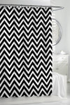 Kassatex Chevron Shower Curtain - White/Black